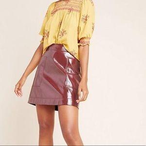 Anthropologie Maeve 12 Vegan Leather Skirt